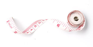 Tape measuring on White background Royalty Free Stock Image