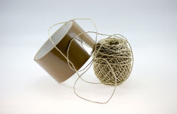 Tape and packing twine Stock Photography