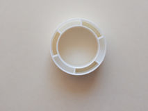 Tape plastic roll. Empty plastic roll used for adhesive tape royalty free stock image