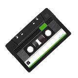 Tape record isolated on white Royalty Free Stock Image