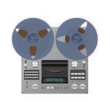 Tape recorder. Reel tape recorder is shown in the image vector illustration