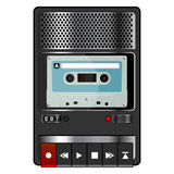 Tape recorder royalty free illustration