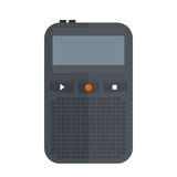 Tape recorder or dictaphone icon isolated on white vector illustration microphone voice audio sound equipment electronic Stock Image