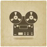 Tape recorder old background Royalty Free Stock Photo
