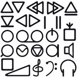 Tape recorder symbols Stock Photo
