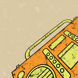 Tape recorder. Vector illustration.eps8 Royalty Free Stock Image