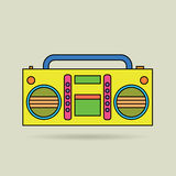 Tape recorder. Vector illustration.eps8 Stock Photography