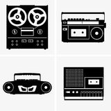 Tape recorders Royalty Free Stock Photos