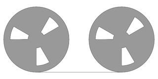Tape reel. Magnetic tape reel for computer data storage vector illustration