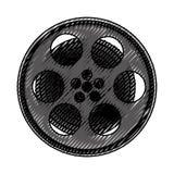 Tape reel film icon Stock Images