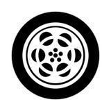 Tape reel film icon Stock Photography