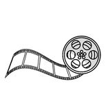 Tape reel film icon Royalty Free Stock Photography