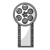 Tape reel film icon Stock Photo