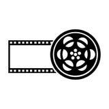 Tape reel film icon Royalty Free Stock Image