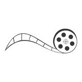 Tape reel film icon Royalty Free Stock Images
