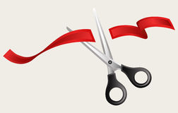 Tape and scissors Stock Images
