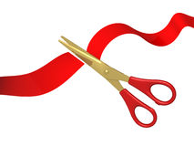 Tape and scissors Stock Photo
