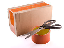 Tape and scissors Royalty Free Stock Photography