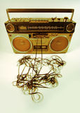 Tape spewing boombox Royalty Free Stock Photography
