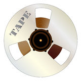 Tape Spool. The silhouettes of a typical country and western guitar Royalty Free Stock Photography