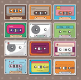 Tape stickers. Cartoon vector illustration Royalty Free Stock Photography
