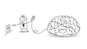 Tape su cerebro Imágenes de archivo libres de regalías