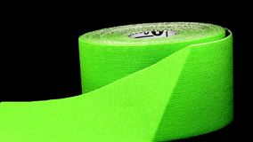 Tape on a turn table. Closeup stock footage