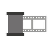 Tape video record flat icon. Vector illustration design Stock Photos