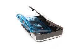 Tape walkman with music Royalty Free Stock Photo