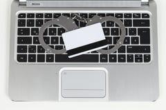 Tapeador do cartão de crédito Imagens de Stock Royalty Free