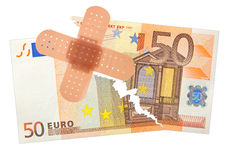 Taped banknote Royalty Free Stock Image