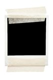 Taped Blank Picture Frame royalty free stock images