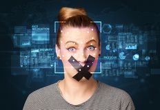 Face Recognition System Royalty Free Stock Photography