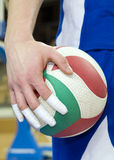Taped fingers of volleyball player Royalty Free Stock Image