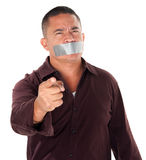 Taped Mouth Stock Photography