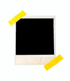 Taped polaroid style photo frame stock photo