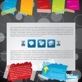 Taped web template Stock Photography