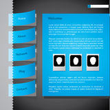 Taped website with photo Royalty Free Stock Image