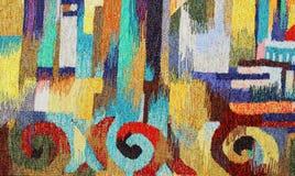 TAPELINE DEL TEJIDO DE LA MANO tapicería coloreada, amarilla fotos de archivo