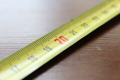 Tapemeasure on 20 Stock Photography