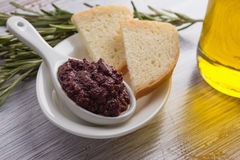 Tapenade. Appetizer from olives. Stock Images