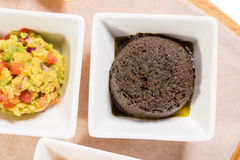 Tapenade of black olives as a appetizer. Royalty Free Stock Photos