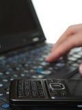 taper de clavier d'ordinateur photo libre de droits