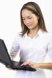 Taper sur l'ordinateur portable 3 Images libres de droits