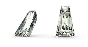 Tapered Baguette Cut Diamond Royalty Free Stock Image