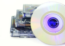 Tapes and CD isolated Stock Photos