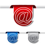Tapes of contact - email symbol. Tapes of contact - illustration - see also my portfolio Stock Photography
