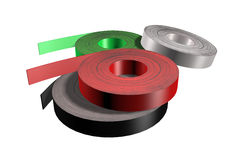 Tapes for edging furniture. Four tapes for edging furniture 3d illustration Royalty Free Stock Image