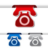 Tapes of phone - contact symbol Royalty Free Stock Photo
