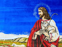Tapestries with Jesus. As background stock images